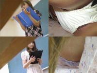 女教師パンチラ胸チラ!教壇に固定カメラを仕掛けて授業中に生パンツ狙い