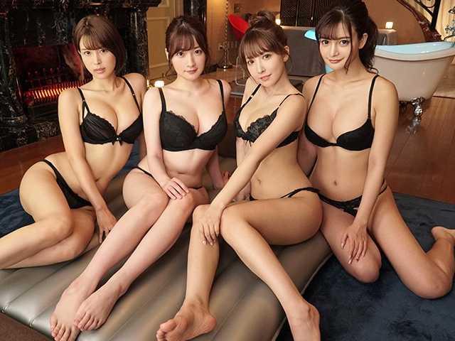 密着フォーメーションASMR 超高級4Pソープご奉仕Special-9