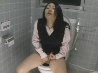 社内トイレ盗撮!おしっこすると思わせてオナニーしちゃう制服OLたち