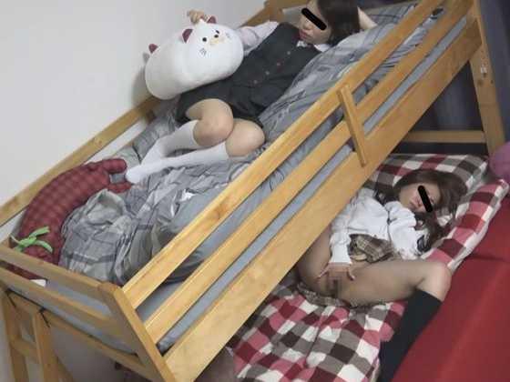 二段ベッドでオナニー