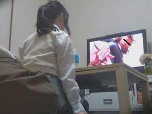 こっそりAV鑑賞オナニー13