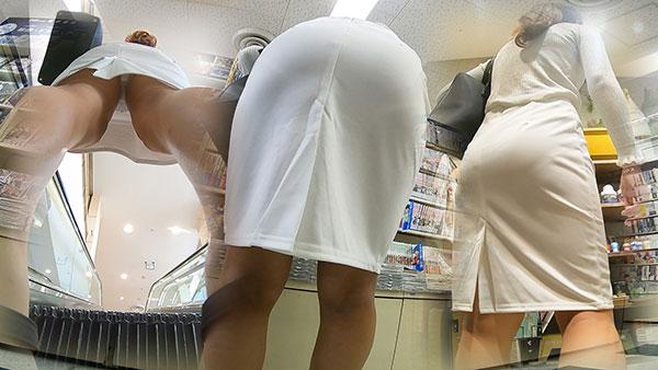 タイトスカートにラインクッキリな美尻女2